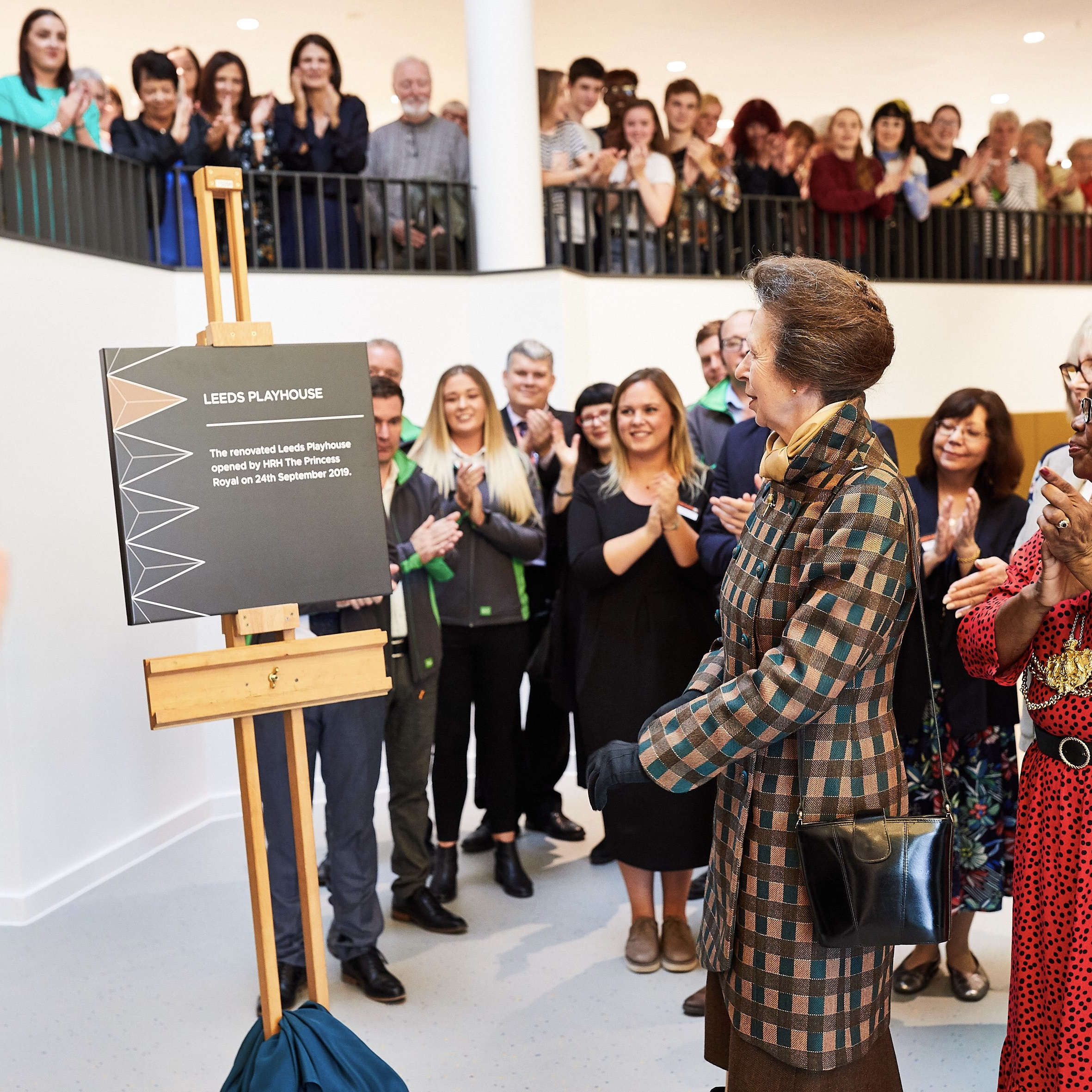 Image of Princess Anne at the opening of Leeds Playhouse