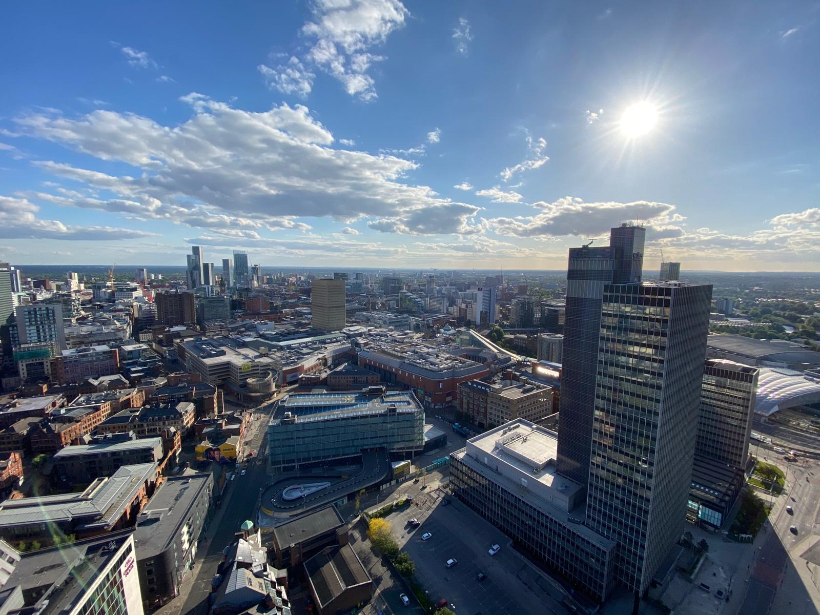Cityscape of Manchester city centre